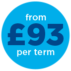 from £93 per 13wk term